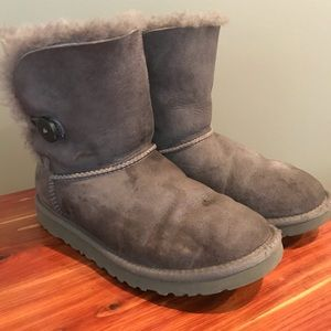 UGG Gray Bailey Button Boots Women's Size 6